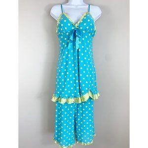 Jenni Polka Dot Capri Pajama Set with Chemise S